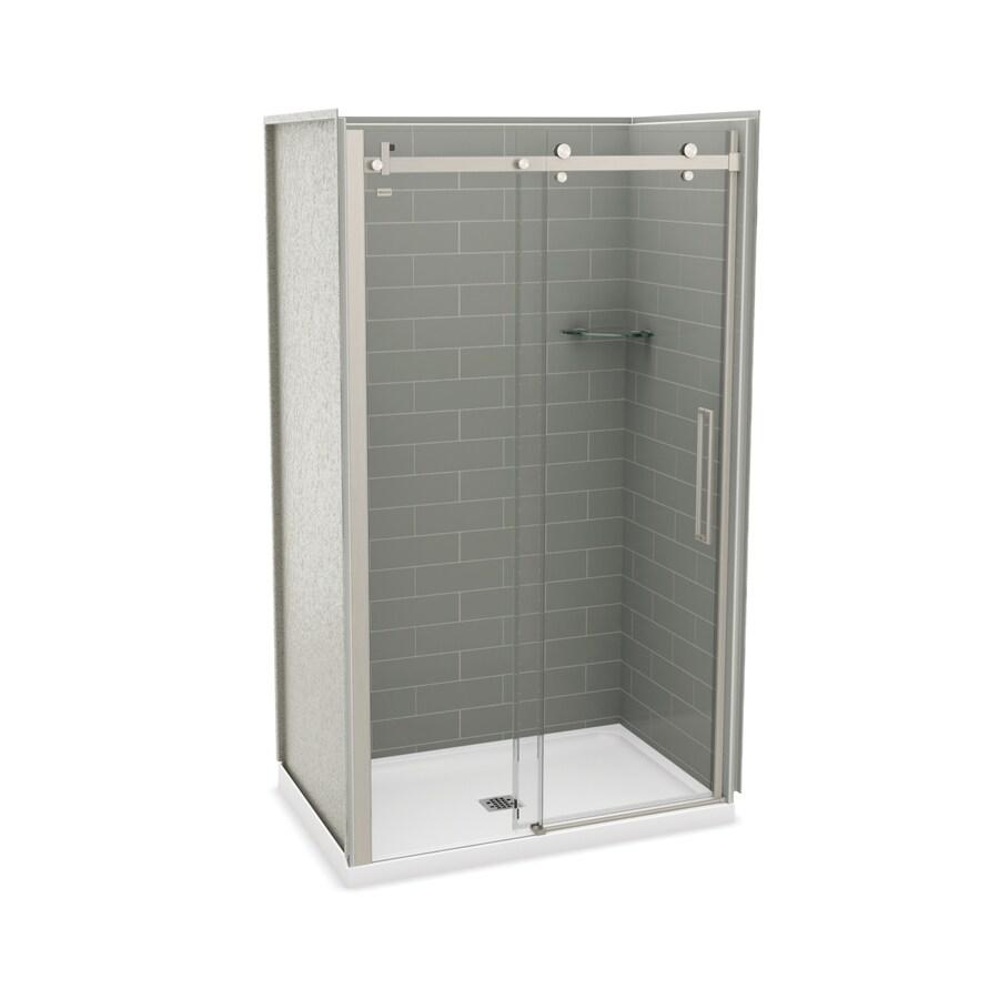 Shop MAAX Utile Ash Grey Fiberglass/Plastic Composite Wall and ...