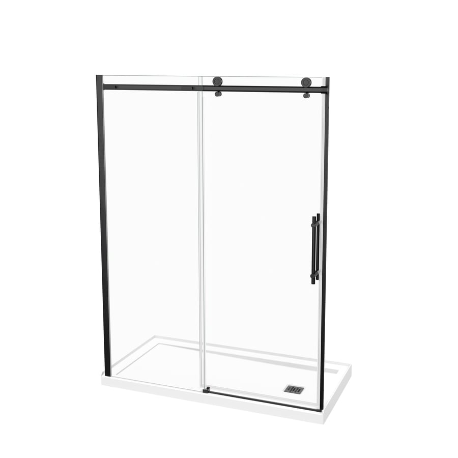 Maax Black 2 Piece 60 In X 32 In X 81 In Alcove Shower Kit In The Alcove Shower Kits Department At Lowes Com