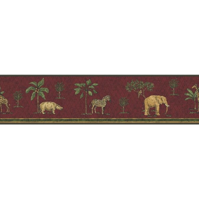 "Sunworthy 5-1/8"" Exotic Animals Prepasted Wallpaper Border ..."
