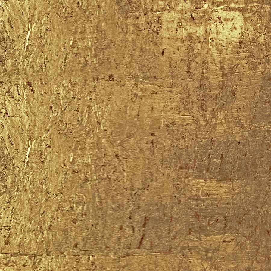 Allen Roth Gold Cork Grcloth Unpasted Textured Wallpaper
