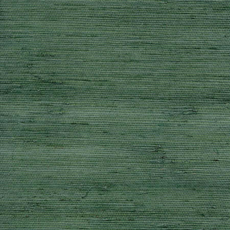 Green Grasscloth Wallpaper: Shop Allen + Roth Blue Green Grasscloth Unpasted Textured