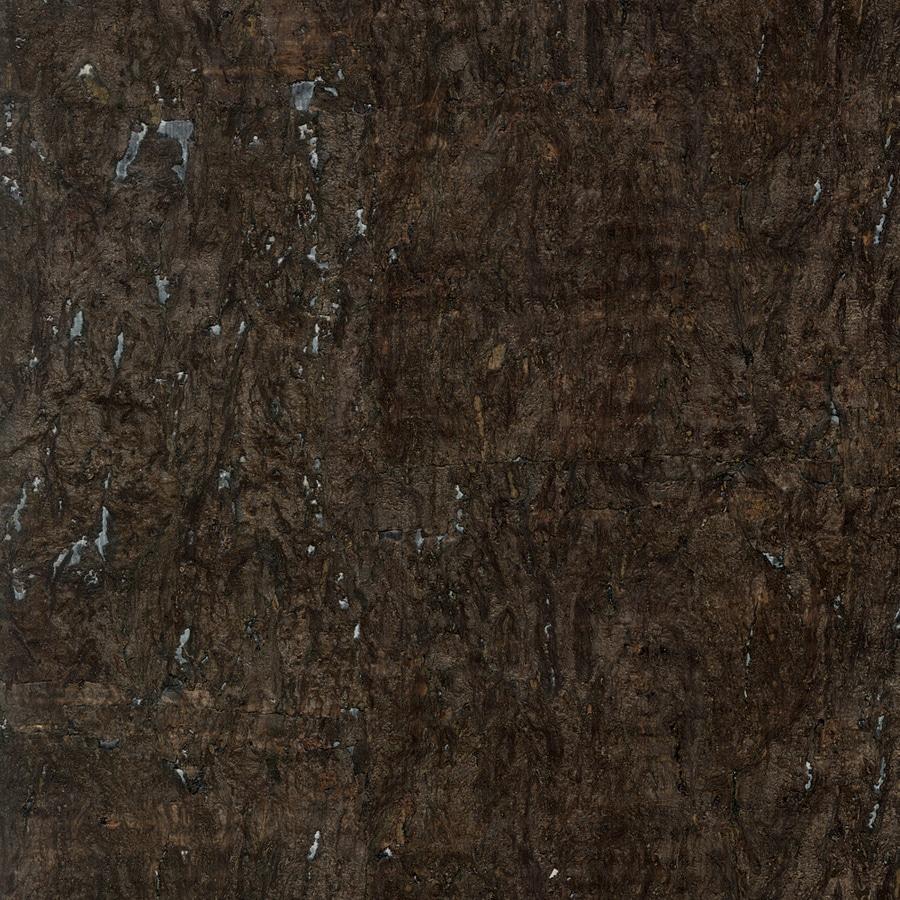 shop allen roth dark brown cork grasscloth unpasted textured