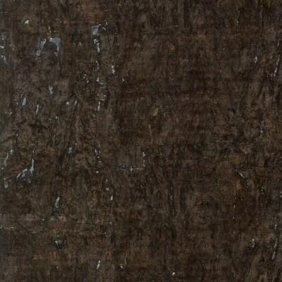 Allen Roth Dark Brown Cork Grasscloth Unpasted Textured