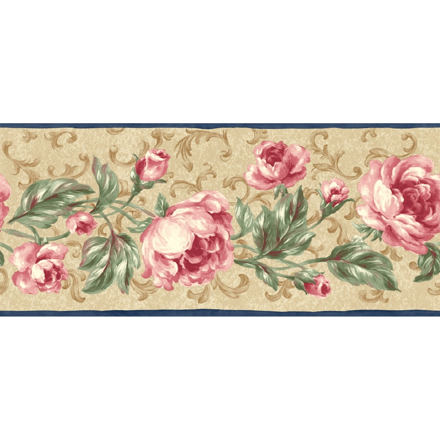 "Sunworthy 9"" Floral Scroll Prepasted Wallpaper Border At"