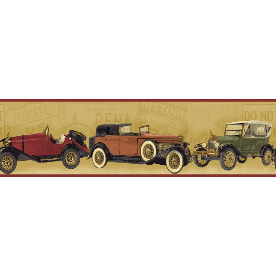 Sunworthy 6 7 8 Antique Cars Prepasted Wallpaper Border At Lowes Com