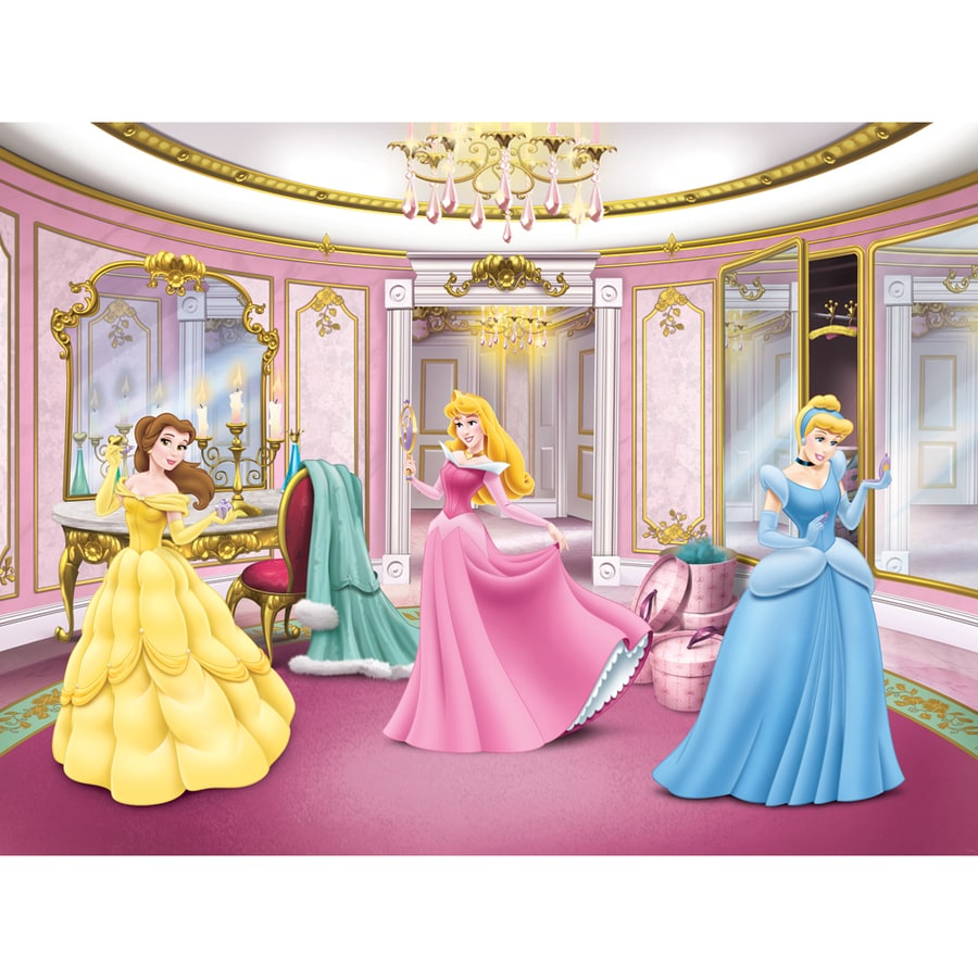 Shop disney princess getting ready mural at for Disney princess mural asda