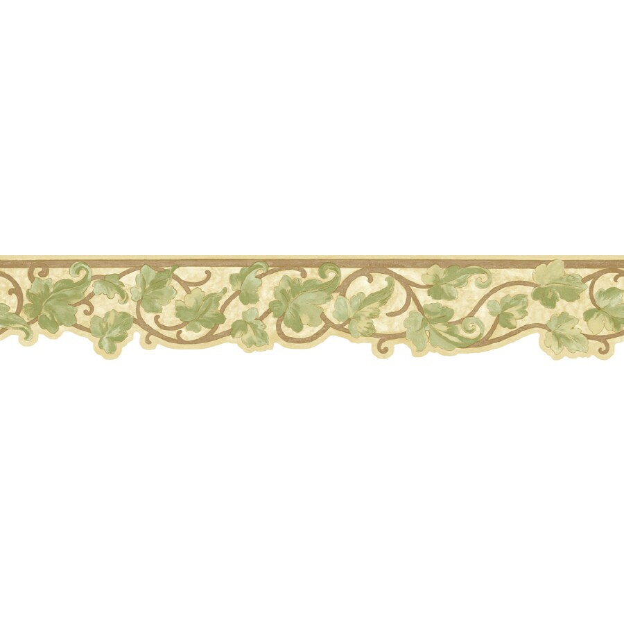 Shop sunworthy 5 antique ivy scroll prepasted wallpaper for Wallpaper lowe s home improvement