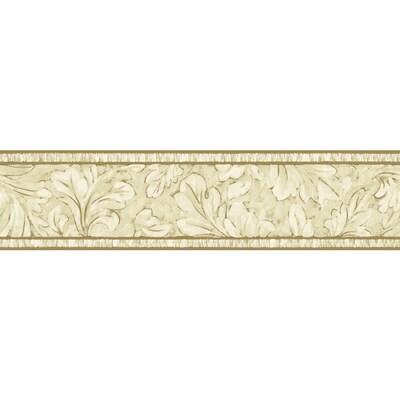 Sanitas 5 1 8 Oak Leaf Scroll Prepasted Wallpaper Border At
