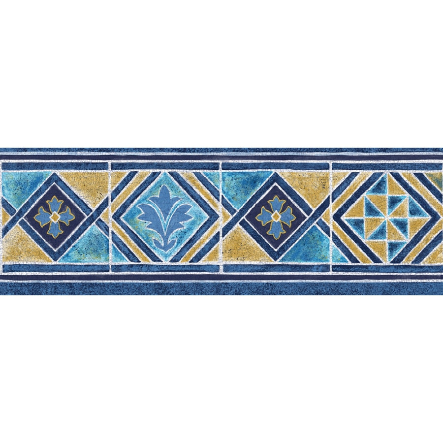 Shop Sanitas 6 7 8 Quot Moroccan Tile Prepasted Wallpaper Border At Lowes Com