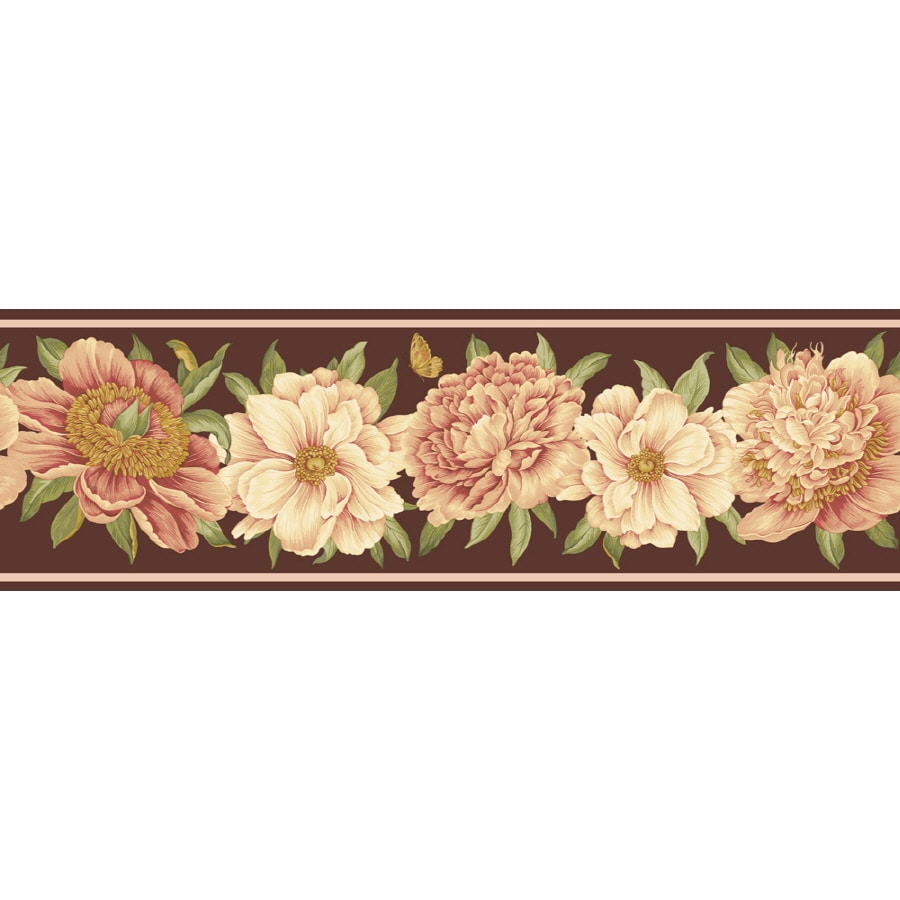Waverly 7.5-in Brown Unpasted Wallpaper Border at Lowes.com
