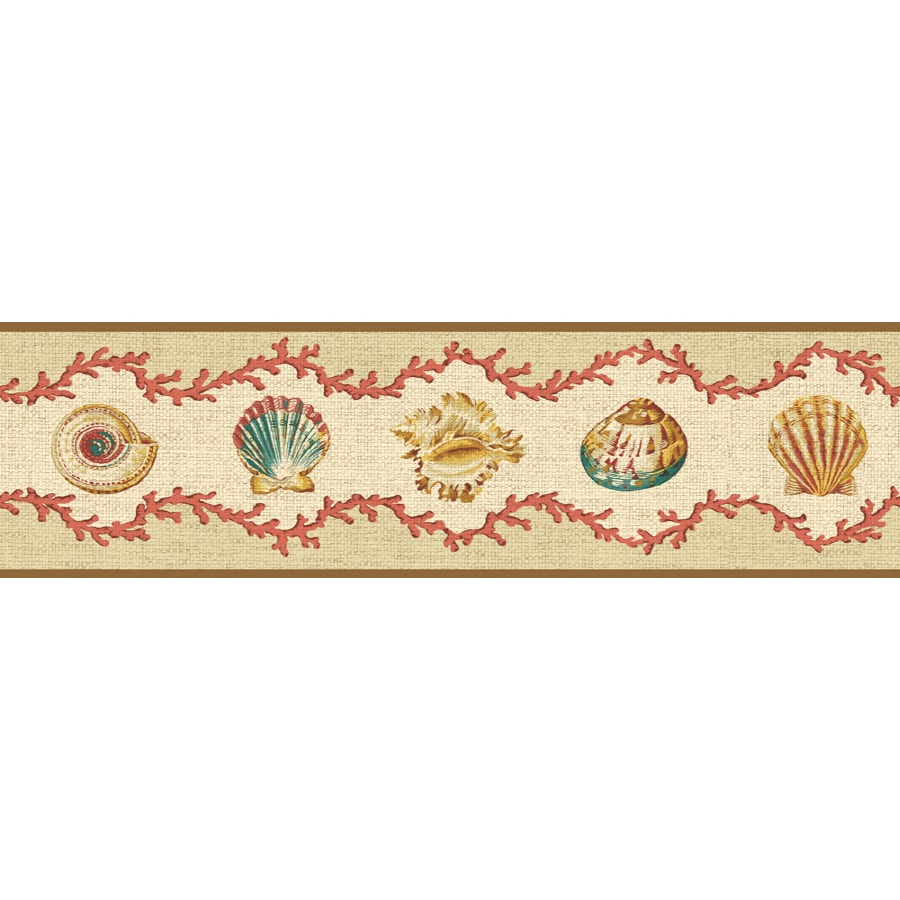 Shop Waverly 6.88-in Red Unpasted Wallpaper Border at ...