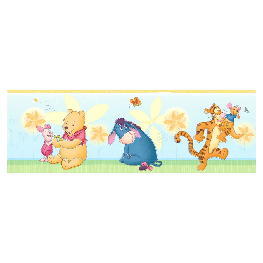 shop imperial winnie the pooh flower wallpaper border at. Black Bedroom Furniture Sets. Home Design Ideas