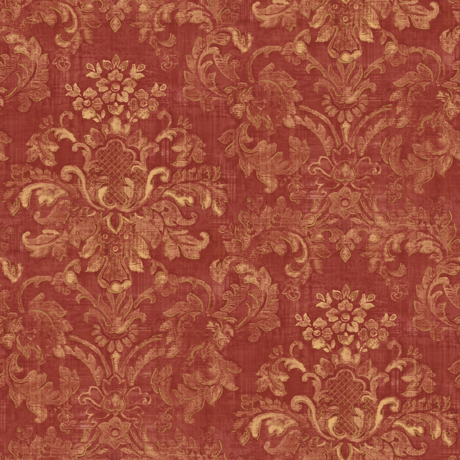 Shop sunworthy red peelable vinyl prepasted classic for Peelable wallpaper
