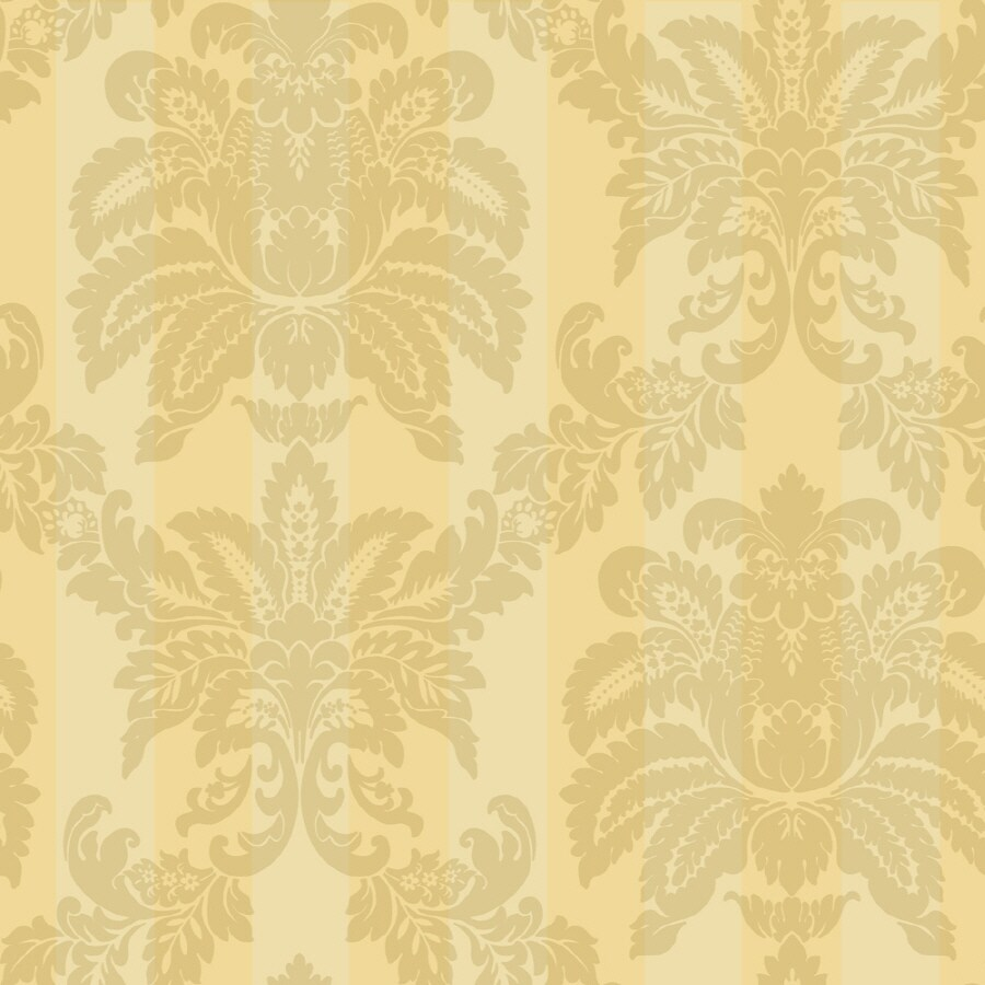 Shop sanitas yellow strippable prepasted classic wallpaper for Prepasted wallpaper