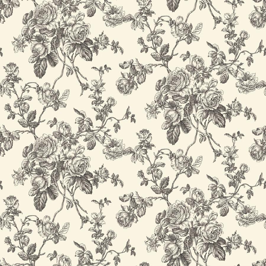 Sanitas White Strippable Non-Woven Prepasted Classic Wallpaper