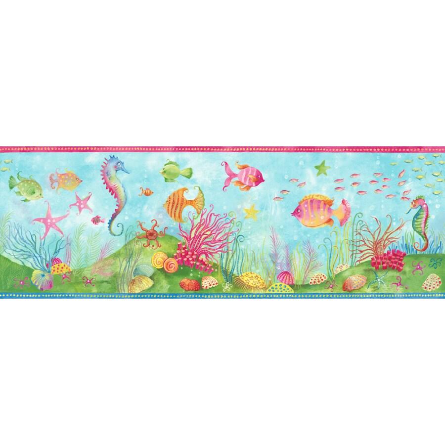Shop sanitas 9 1 4 fun 39 n 39 flirty fish prepasted for Wallpaper lowe s home improvement