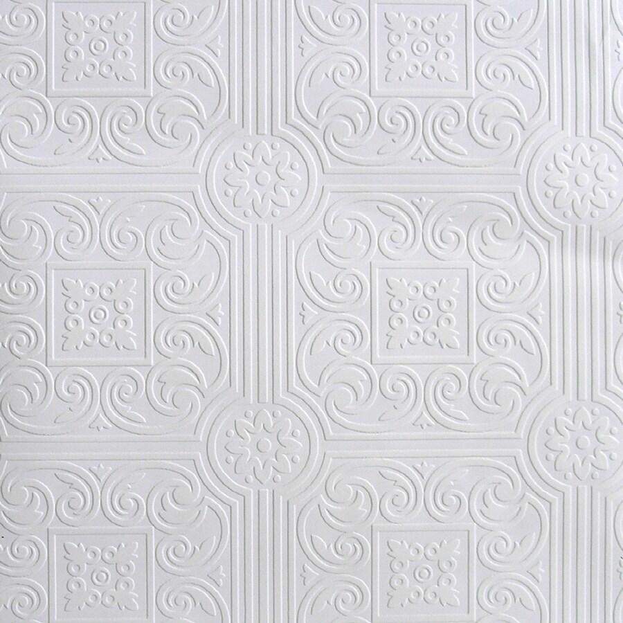 Superbe Sunworthy White Peelable Vinyl Prepasted Classic Wallpaper