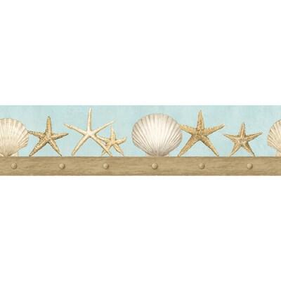 Imperial 4 3 Seashell Prepasted Wallpaper Border At