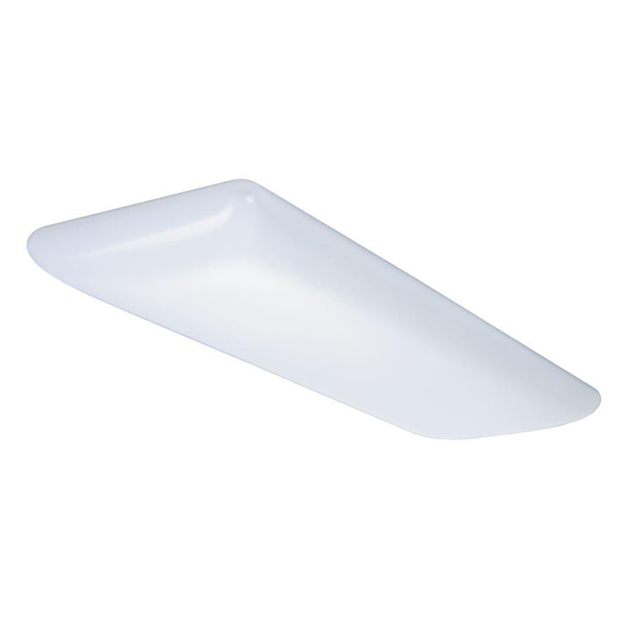 Shop Flush Mount Fluorescent Lights At Commercial Wiring Flouresent Portfolio Tuffrpuff White Acrylic Light Common 4