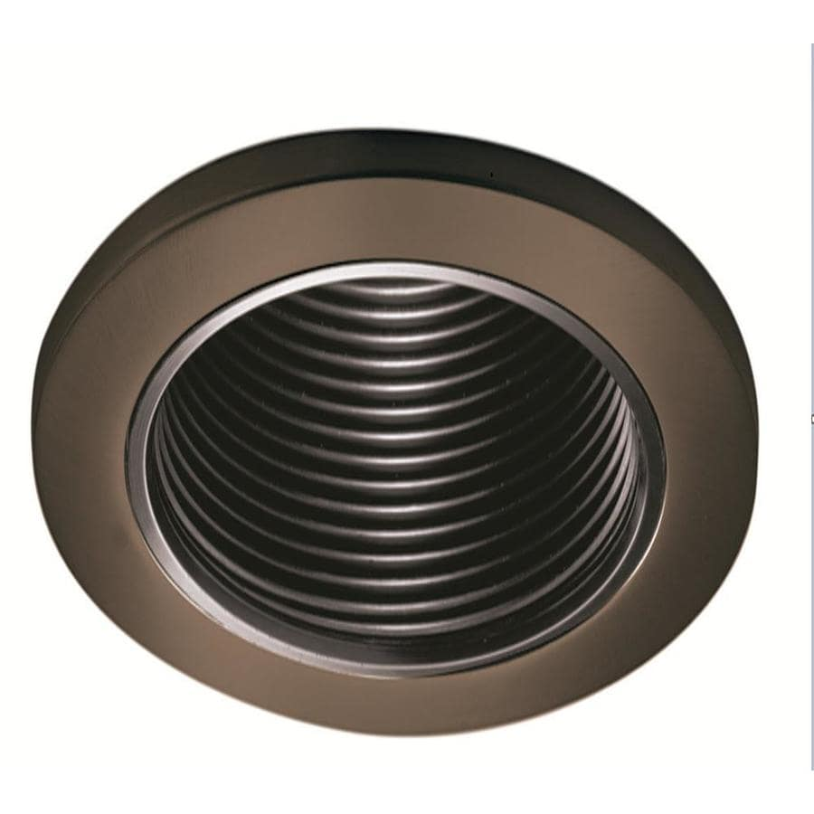 How to replace recessed lighting trim - Halo Tuscan Bronze Baffle Recessed Light Trim Fits Housing Diameter 4 In