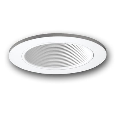 All Pro 5 In White Baffle Recessed Lighting Trim At Lowes