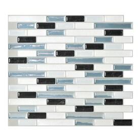 Smart Tiles 6 Pack White Linear Mosaic Composite Vinyl Wall Tile Common 10