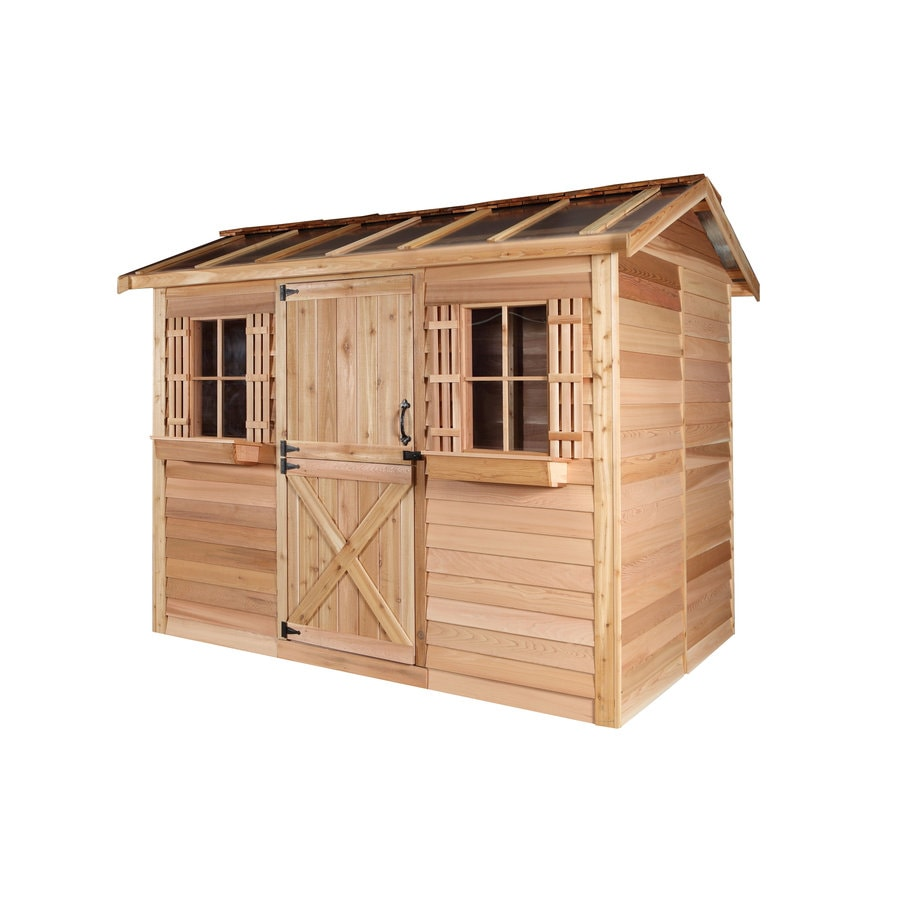 Shop cedarshed common 12 ft x 8 ft interior dimensions for Garden shed installation