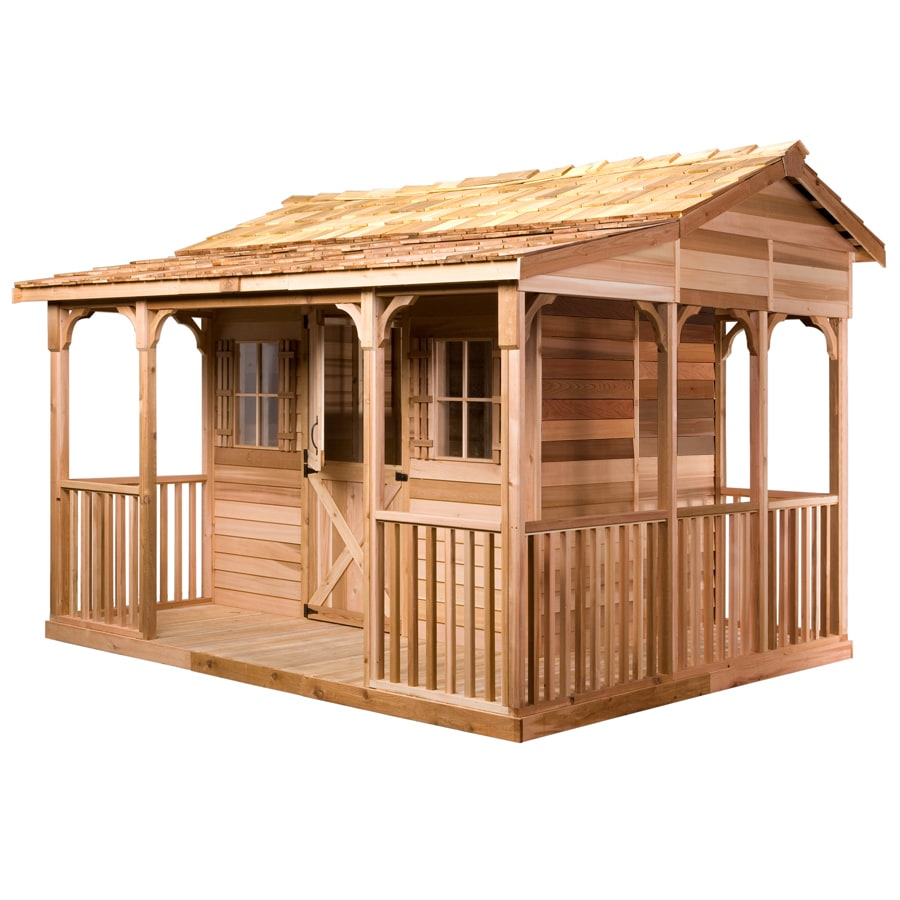 Cedarshed Cookhouse Gable Cedar Storage Shed (Common: 12-ft x 10-ft; Interior Dimensions: 8.5-ft x 5.5-ft)