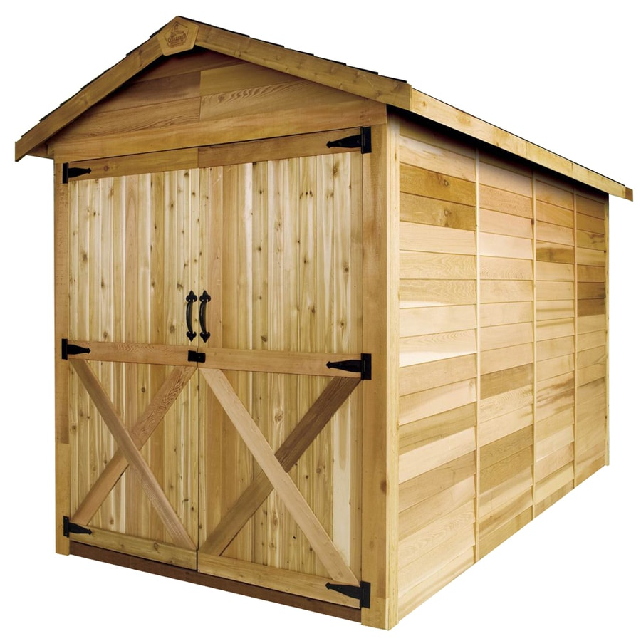 Cedarshed Rancher Gable Cedar Storage Shed (Common: 6-ft x 6-ft; Interior Dimensions: 5.33-ft x 5.75-ft)