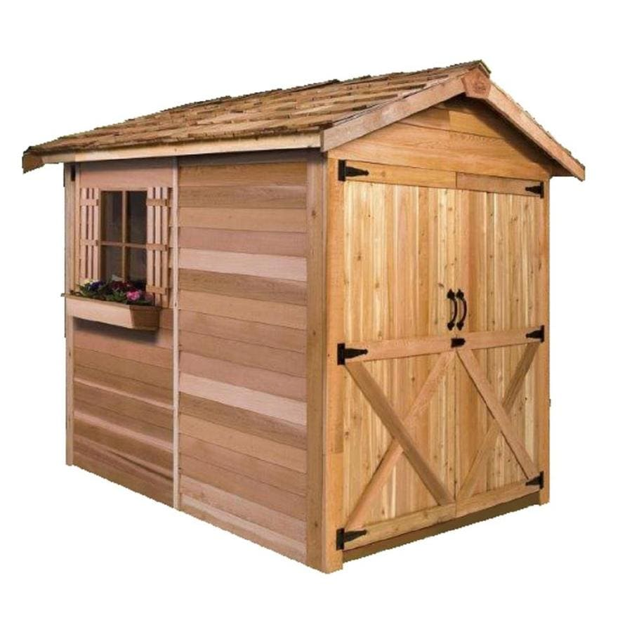 Shop cedarshed common 6 ft x 9 ft interior dimensions for Garden shed installation