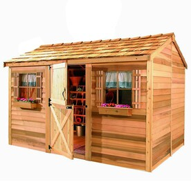 Cedarshed (Common 10-ft x 8-ft; Interior Dimensions 9.62  sc 1 st  Loweu0027s & Shop Wood Storage Sheds at Lowes.com