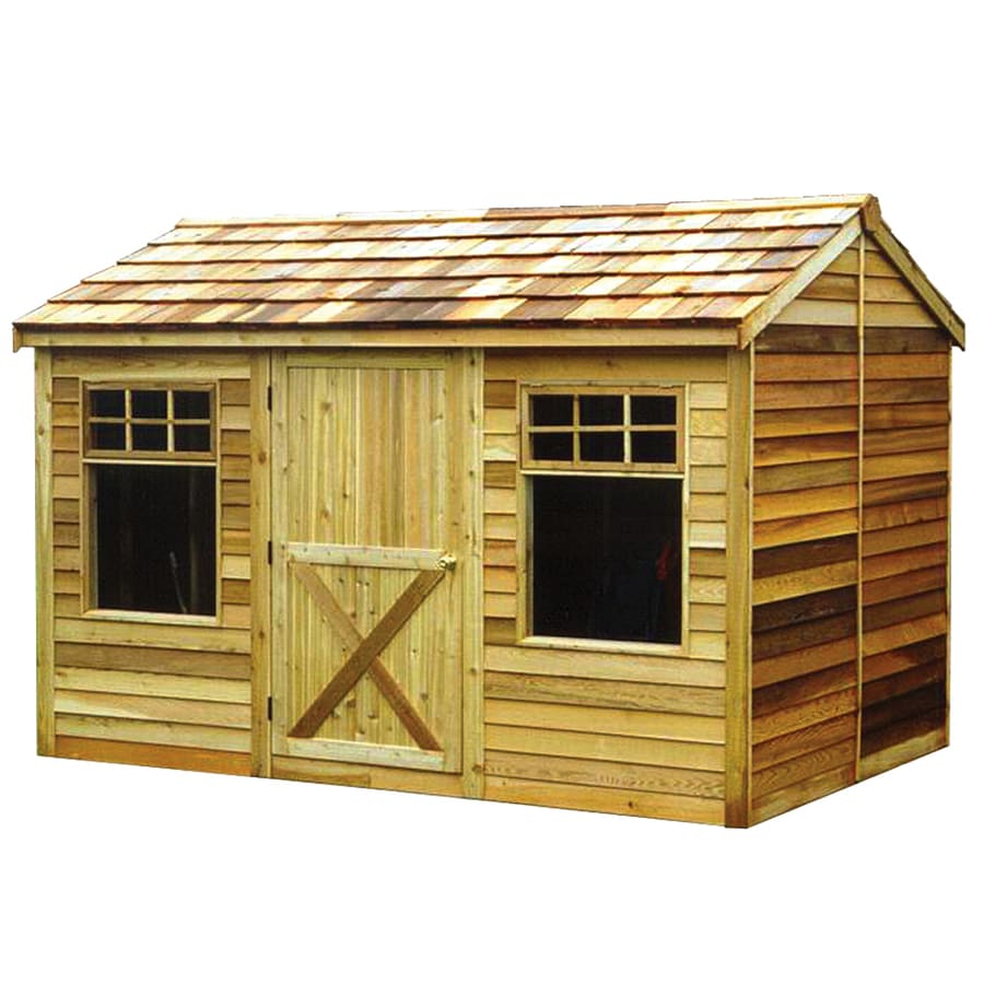 Cedarshed (Common: 12-ft x 8-ft; Interior Dimensions: 11.62-ft x 7.33-ft) Haida Gable Cedar Wood Storage Shed (Installation Not Included)