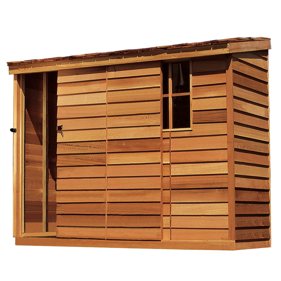 Cedarshed Yardsaver Lean To Cedar Wood Storage Shed (Common: 8 Ft X