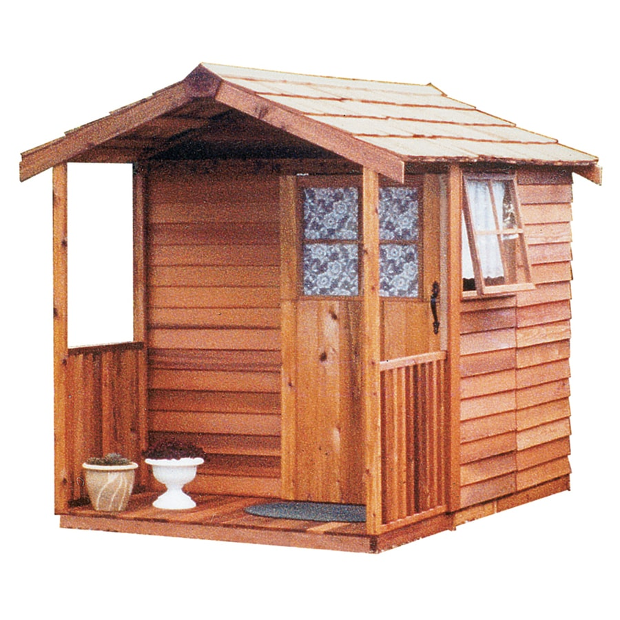 Cedarshed (Common: 6-ft x 9-ft; Interior Dimensions: 5.33-ft x 8.62-ft) Gardener's Delight Gable Cedar Wood Storage Shed (Installation Not Included)