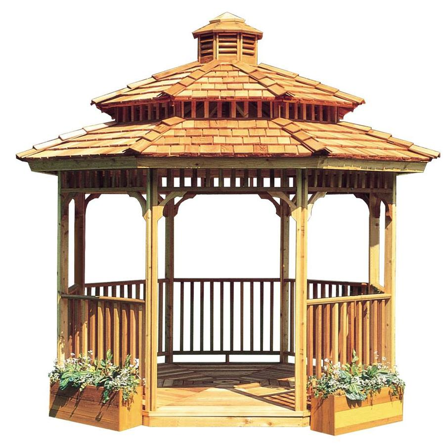 Cedarshed Cedar Octagon Permanent Gazebo (Exterior: 14.83-ft x 14.83-ft; Foundation: 12.08-ft x 12.85-ft)