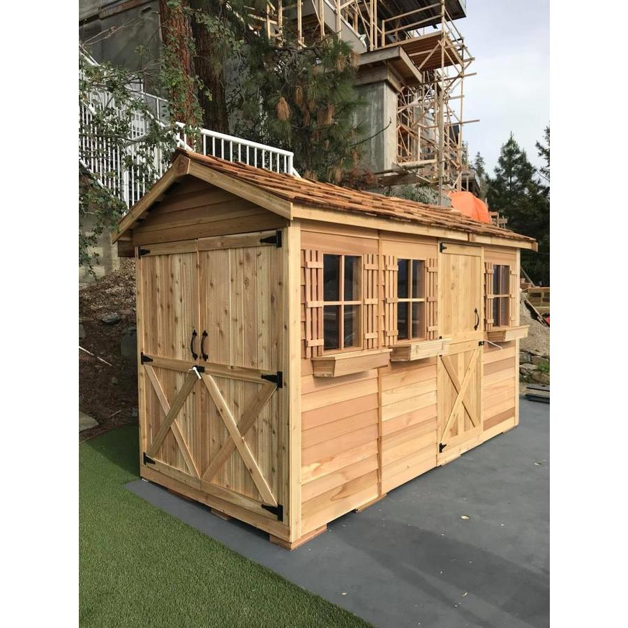 Cedarshed Boathouse Gable Cedar Storage Shed (Common: 16-ft x 8-ft; Interior Dimensions: 15.5-ft x 7.33-ft)