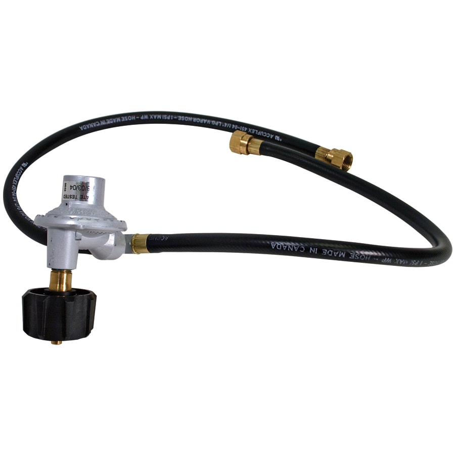 Barbecue Genius 3/8-in 0.55-in Dia x 24-in L Standard Propane Tank Regulator with Hose
