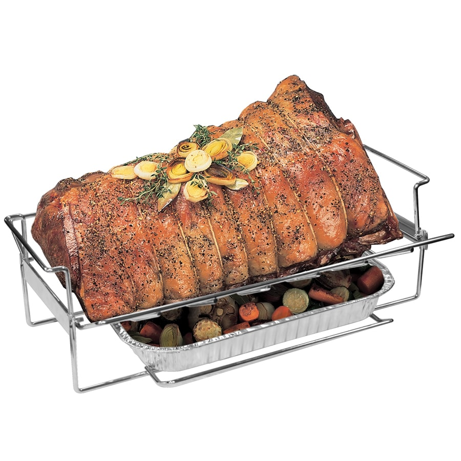 Barbecue Genius Stainless Steel Roaster/Rib Rack