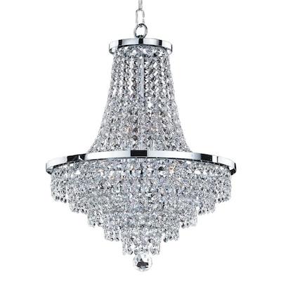 Vista 8 Light Chrome Traditional Crystal Empire Chandelier