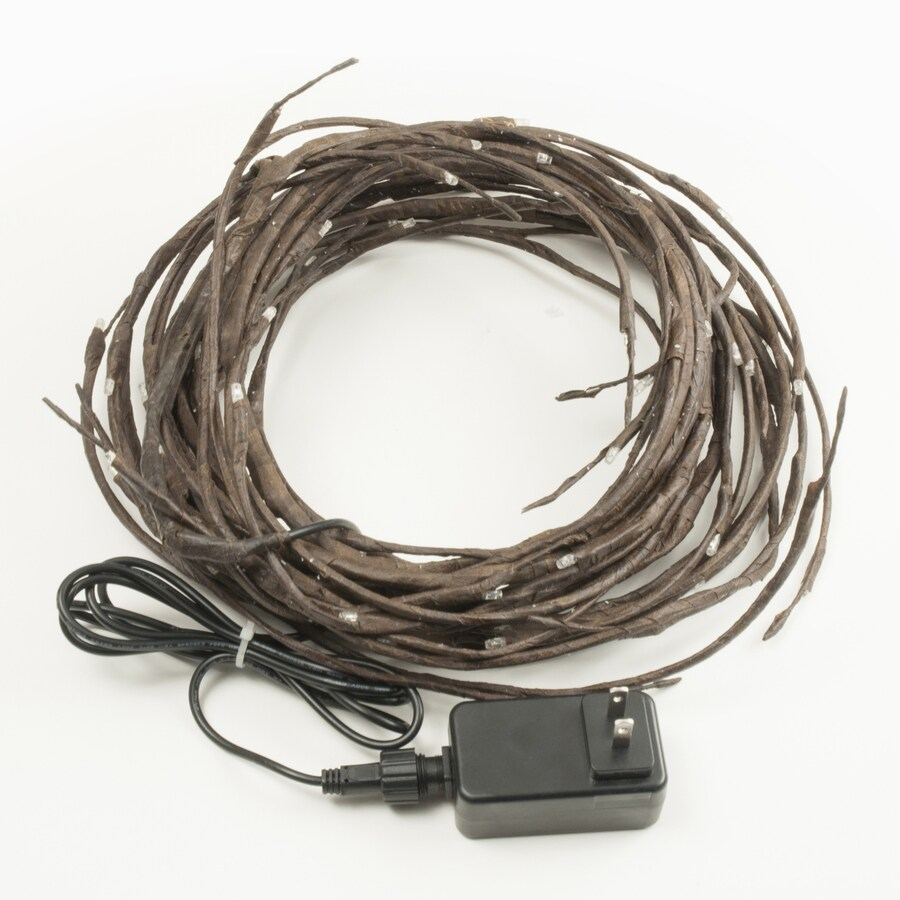 2.5-in 80-Light Constant Brown Plug-In Pre-Lit Artificial Branch