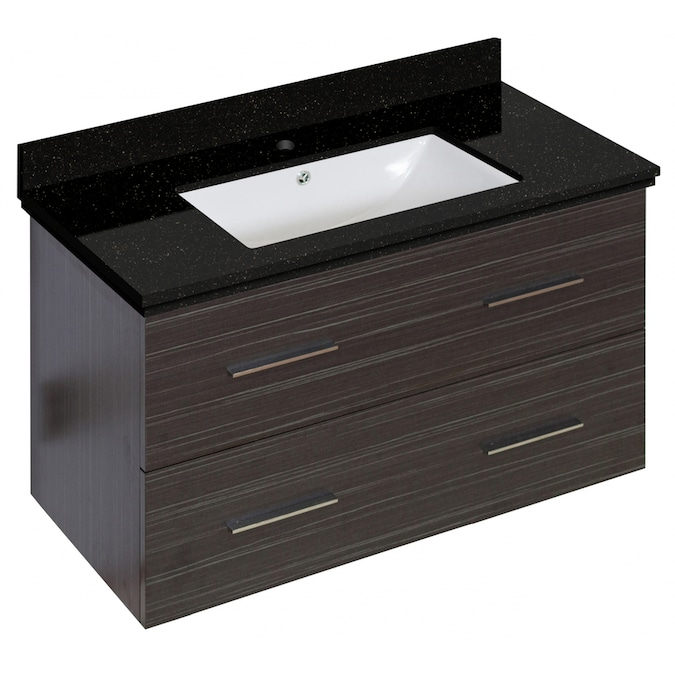 American Imaginations Xena 35 In Dawn Grey Drop In Single Sink Bathroom Vanity With White Engineered Stone Top In The Bathroom Vanities With Tops Department At Lowes Com