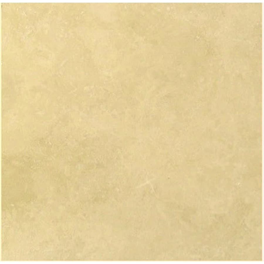 Faber Travertine Filled and Honed- Ivory, Beige Travertine Floor Tile (Common: 18-in x 18-in; Actual: 18-in x 18-in)