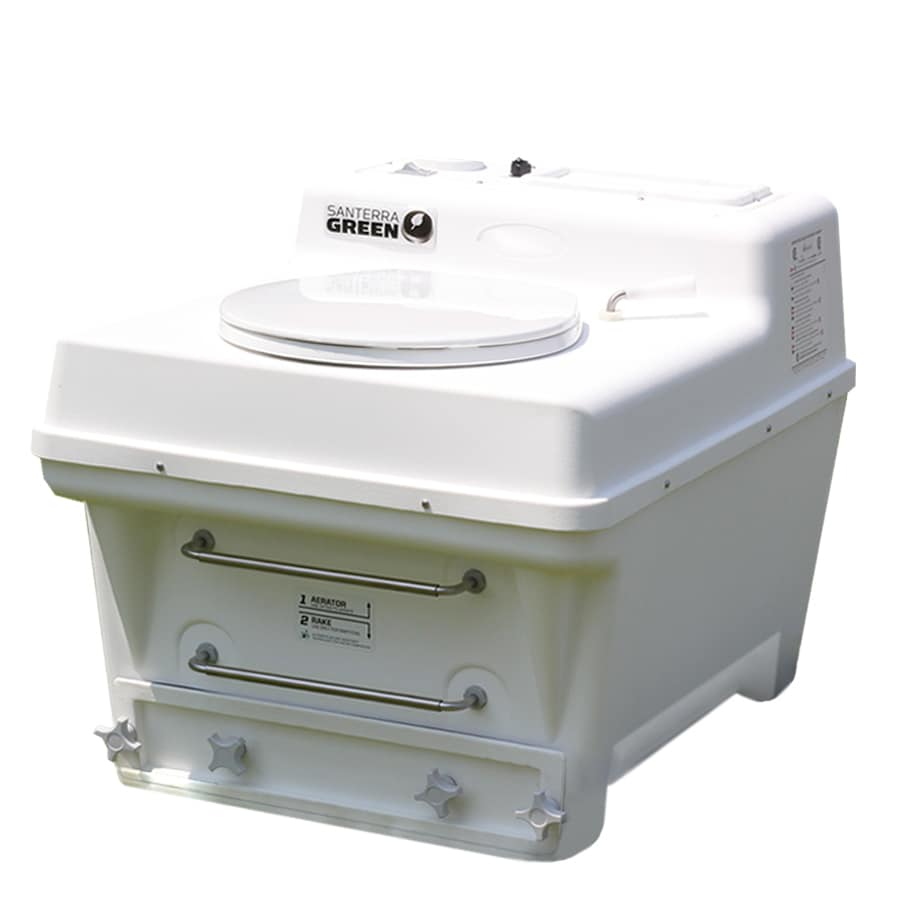 Santerra Green White Round Chair Height Composting Toilet