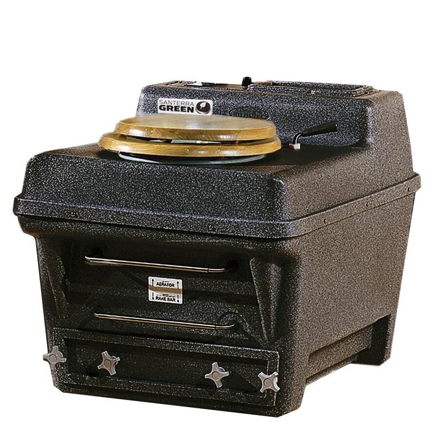 Santerra Green 0.8-GPF (3.03-LPF) Black Granite Chair Height Composting Toilet