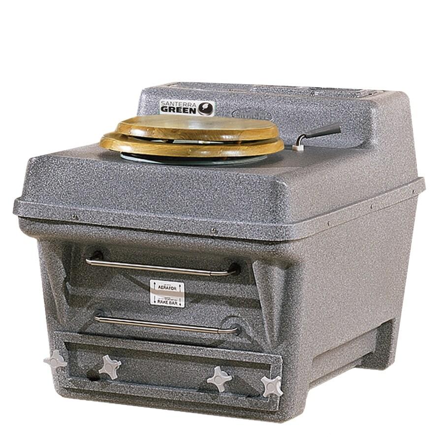 Santerra Green 0.8-GPF (3.03-LPF) Grey Granite Round Chair Height Composting Toilet