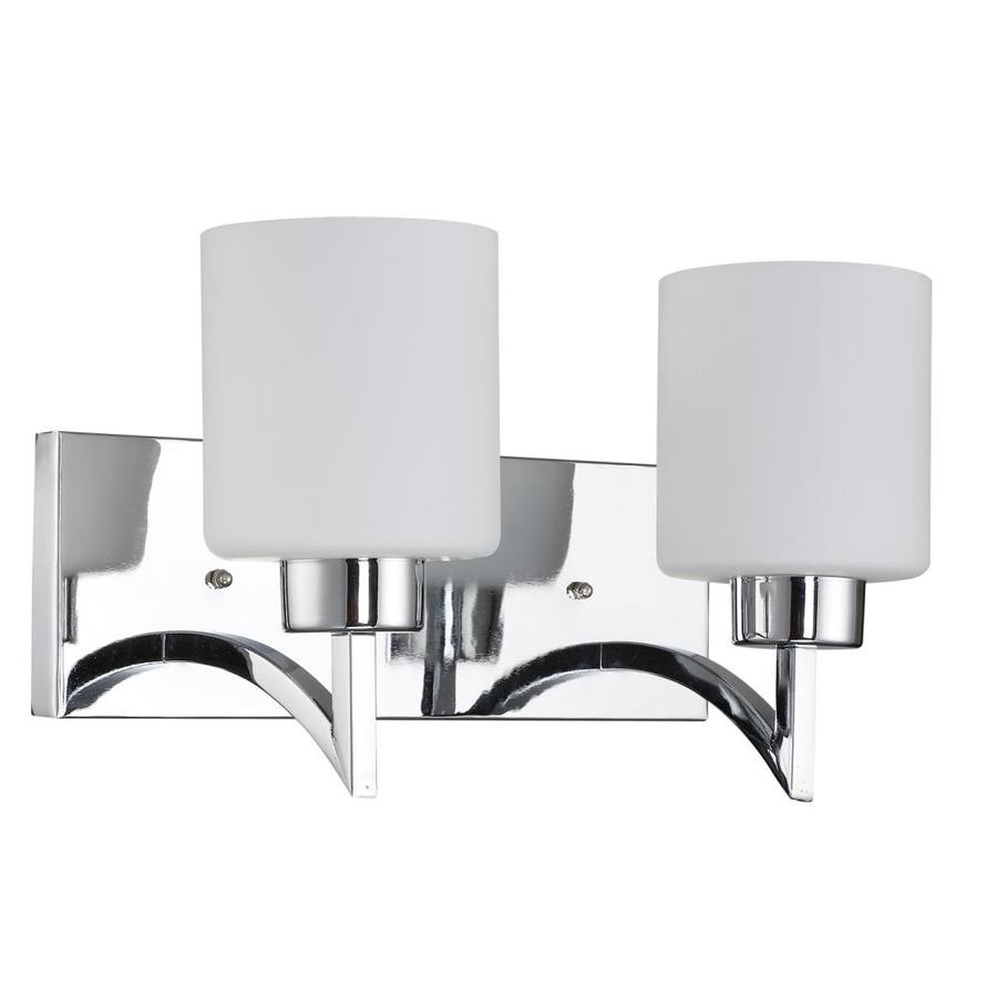 BELDI Markam 2-Light 14 2-in Chrome Cylinder Vanity Light at
