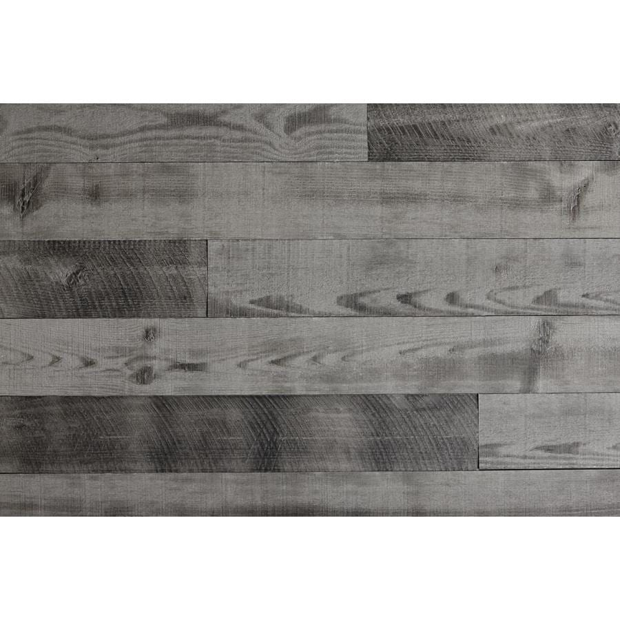 Timberwall Barnwood Reclaimed 4.95-in x 3.93-ft Driftwood Grey Pine Wood Wall Plank