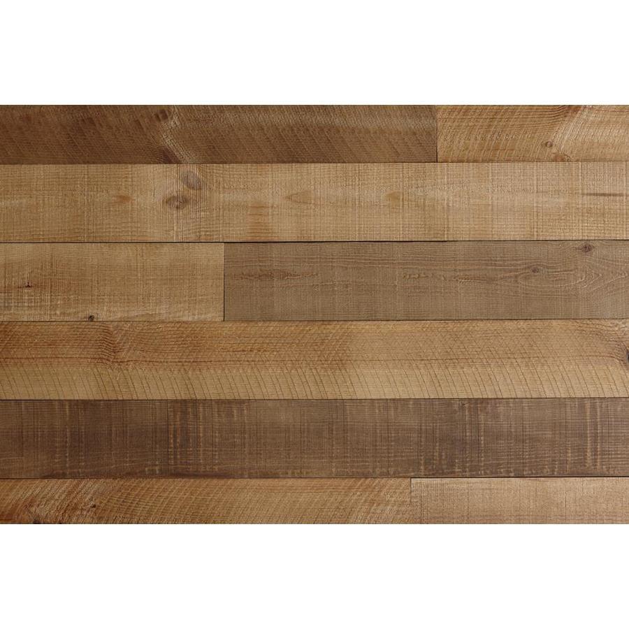 Timberwall BARNWOOD 4.95-in x 3.93-ft Heritage Brown Pine Wall Plank