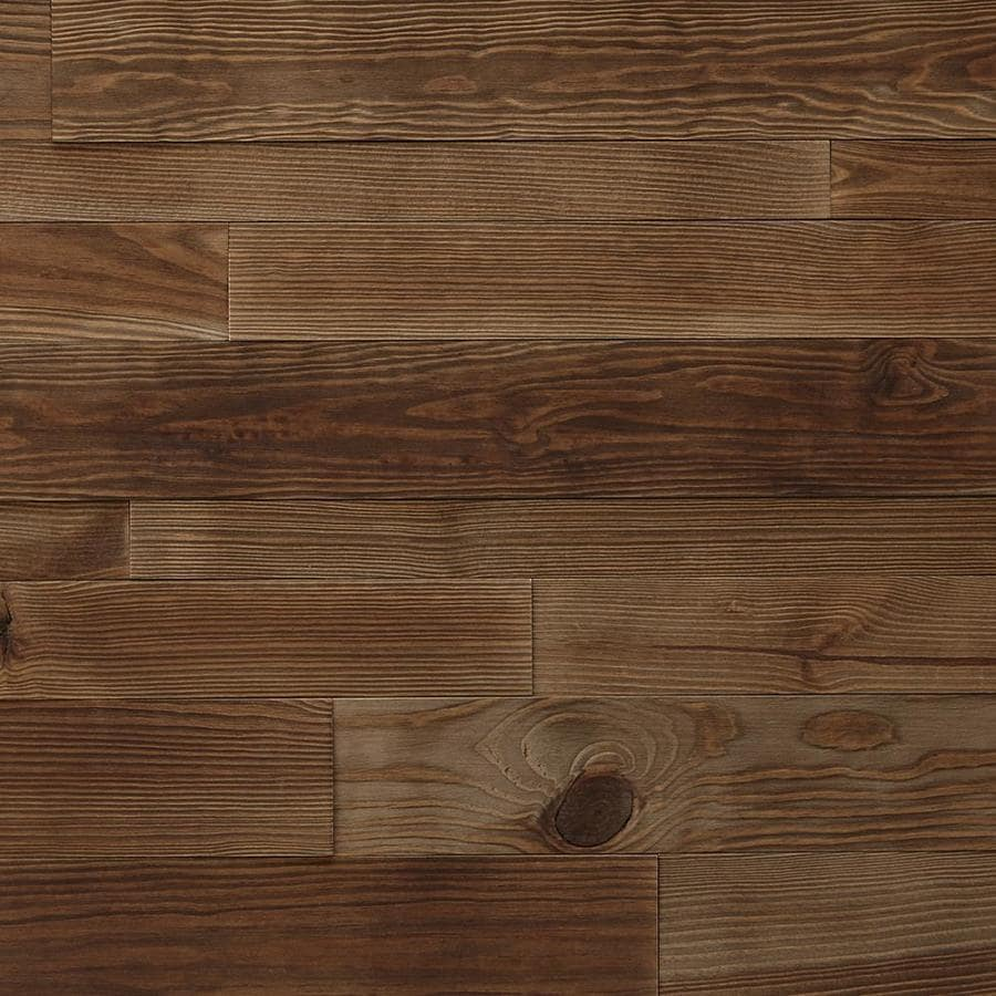 Timberwall Weld Reclaimed 2.375-in x 2.75-ft Copper Pine Wood Wall Plank