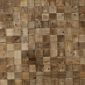 Timberwall Reclaimed 8.2 Sq Ft Cube Wood Wall Plank Kit